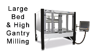 cheap economical large bed high gantry budget precision cnc cutting milling routing machines